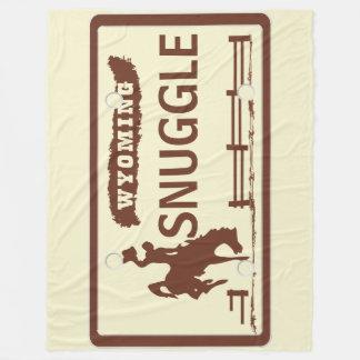 Wyoming-Staats-Platte Fleecedecke