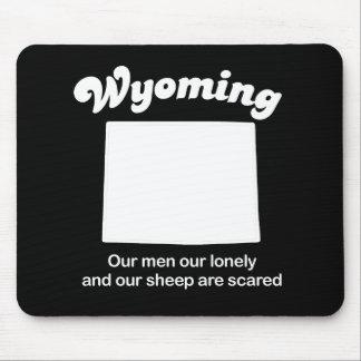 Wyoming - unsere Schafe sind erschrockener T - Mousepad