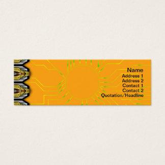 X Flammen-Gitter Mini Visitenkarte