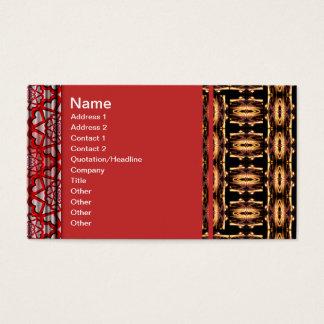 X Flammen-Gitter Visitenkarte