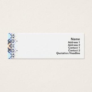 X Wellen klein Mini Visitenkarte