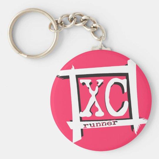 XC Cross Country-Läufer Standard Runder Schlüsselanhänger