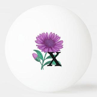 Xeranthemum personalisiertes Blumen-Monogramm Tischtennis Ball