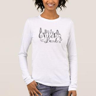 XL: Küken vom Burbs L rosa lange Hülse T Langarm T-Shirt