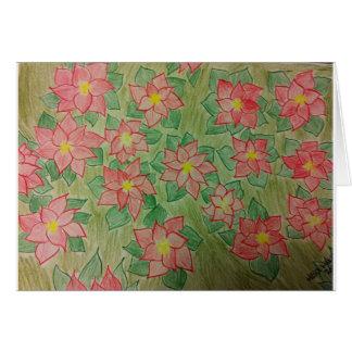 x'mas Blumen für meine Tochter Karte