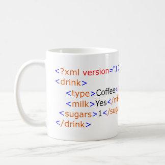 XML Programmierungskaffee-Tasse Kaffeetasse
