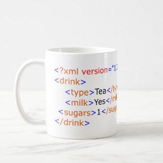XML Programmierungstee-Tasse Kaffeetasse