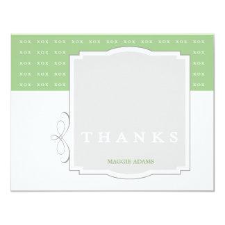 XOX Mädchen-Gewohnheit danken Ihnen 10,8 X 14 Cm Einladungskarte