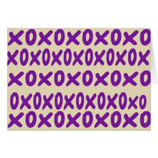 """xoxo"" Anmerkungs-Karte Karte"