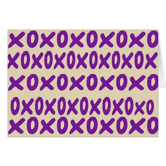 """""""xoxo"""" Anmerkungs-Karte Mitteilungskarte"""