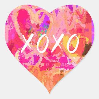 XOXO Valentinsgruß-Herz Herz-Aufkleber
