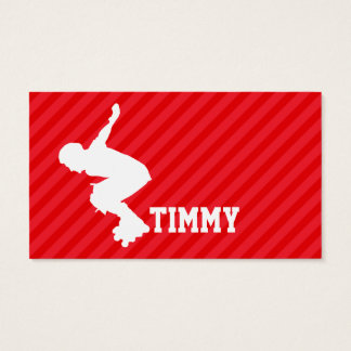 Xtreme Skaten; Scharlachrot Rot-Streifen- Visitenkarte