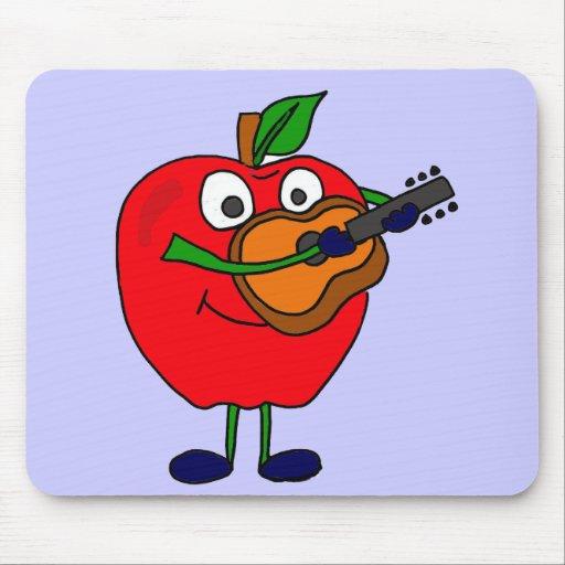 XX Apple, der Gitarren-Cartoon spielt Mousepad