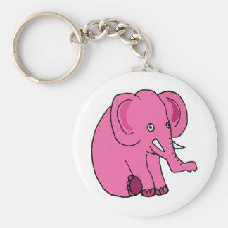 XX éléphant rose drôle Porte-clé