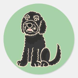 XX fantastischer Labradoodle Welpen-Hund Runder Aufkleber