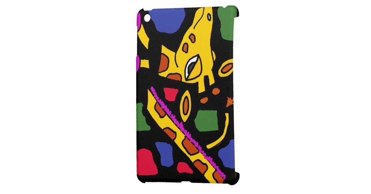 XX Giraffen-abstrakte Kunst Hülle Für iPad Mini   Zazzle
