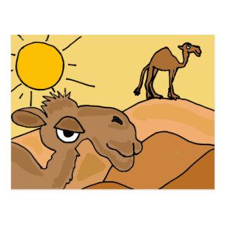 XX Kamel in der Wüsten-Volkskunst Postkarte