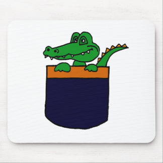 XX lustiger Alligator in einer Tasche Mauspads