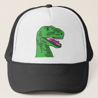 XX lustiger T-Rex Dinosaurier-Cartoon Truckerkappe