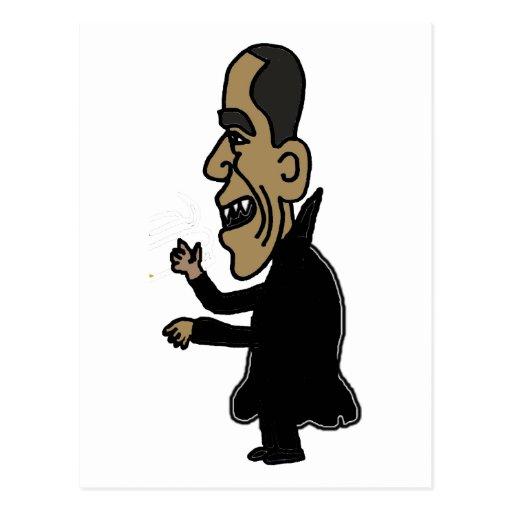XX Obama der Vampire-politische Cartoon Postkarten