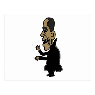 XX Obama der Vampire-politische Cartoon Postkarte