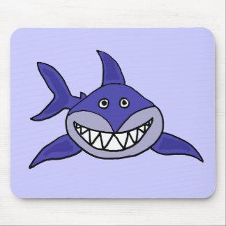 XX unglaublich witzig grinsender Haifisch-Cartoon Mauspad