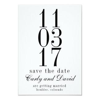 XX.XX.XX Save the Date Minimalistic, numerisch Karte