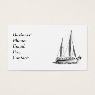 xxxxx Segel-Boots-weiße Visitenkarte-Schablone Visitenkarte