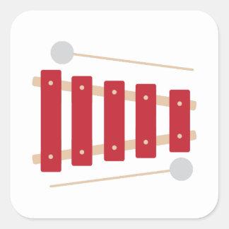 Xylophone Quadratischer Aufkleber