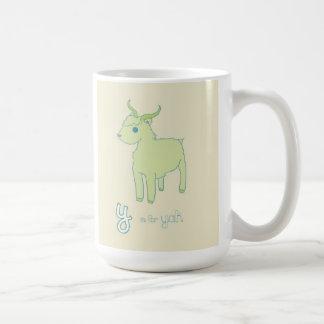 Y ist für Yak Kaffeetasse