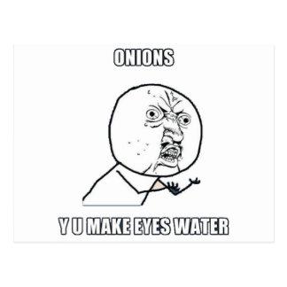 Y U machen Augen-Wasser Postkarte