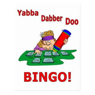 Yabba Dabber Doo - BINGO Postkarte