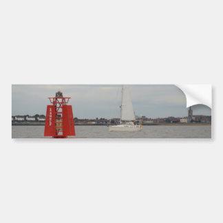 Yacht-Schwertwal Autoaufkleber