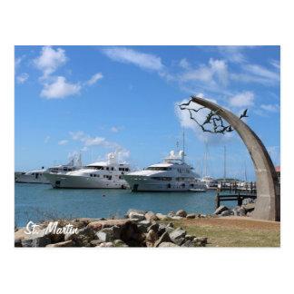 Yacht- und Küsten-Foto St Martin (St. Maarten) Postkarte