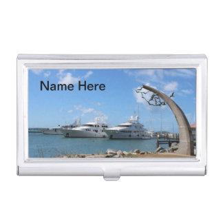 Yacht- und Küsten-Foto St Martin (St. Maarten) Visitenkarten Dose