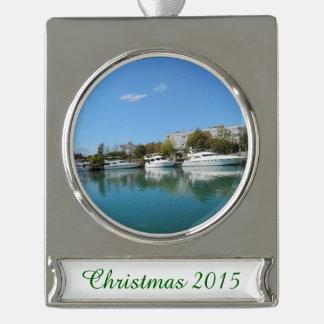 Yachten in der Türkei Banner-Ornament Silber