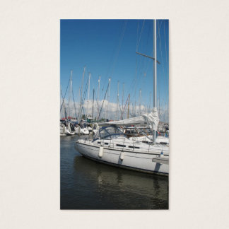 Yachten Jachthafen-in der kleinen Foto-Karte Visitenkarte
