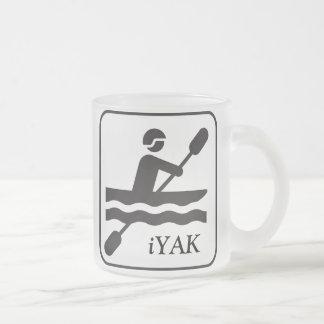 YAKity YAK iYAK BAK, Kayaking mattierte GlasTasse Mattglastasse