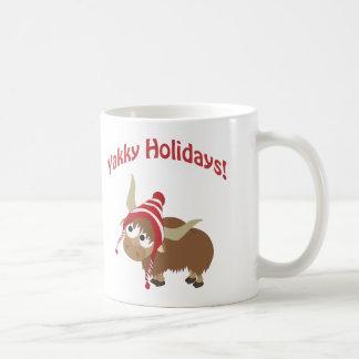 Yakky Feiertage! Winter-Yak Kaffeetasse