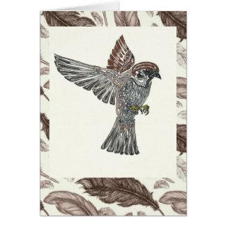 YAP | Sparrowhawk | Jugend-Kunst-Projekt Karte