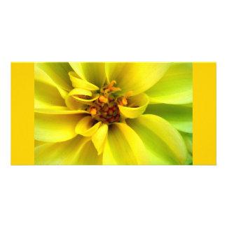 Yellow Flower - Photocard Photocartes Personnalisées