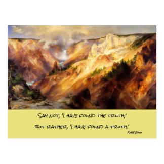Yellowstone-Landschaft Postkarte