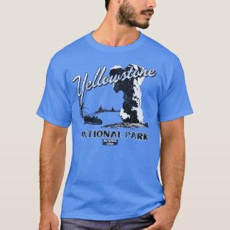 Yellowstone Nationalpark altes zuverlässiges T-Shirt