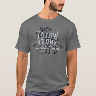 Yellowstone Nationalpark Elch-T - Shirtgrau T-Shirt