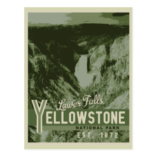 Yellowstone Nationalpark untere Fall-Postkarte Postkarte