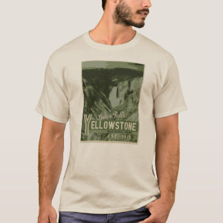 Yellowstone Nationalpark unteres Fall-T-Shirt T-Shirt