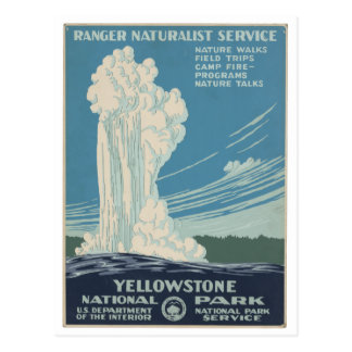 Yellowstone Nationalpark Vintage Postkarte