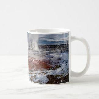 Yellowstone Nationalpark Wyoming im Winter Kaffeetasse