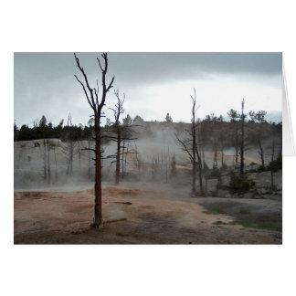 Yellowstone-Nebel-Thermal vereinigt leere Karte