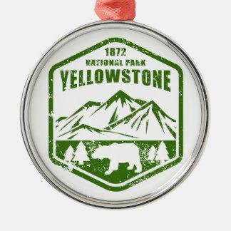 Yellowstone Silbernes Ornament